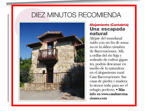 casabarcenaciones.com en la revista diez minutos